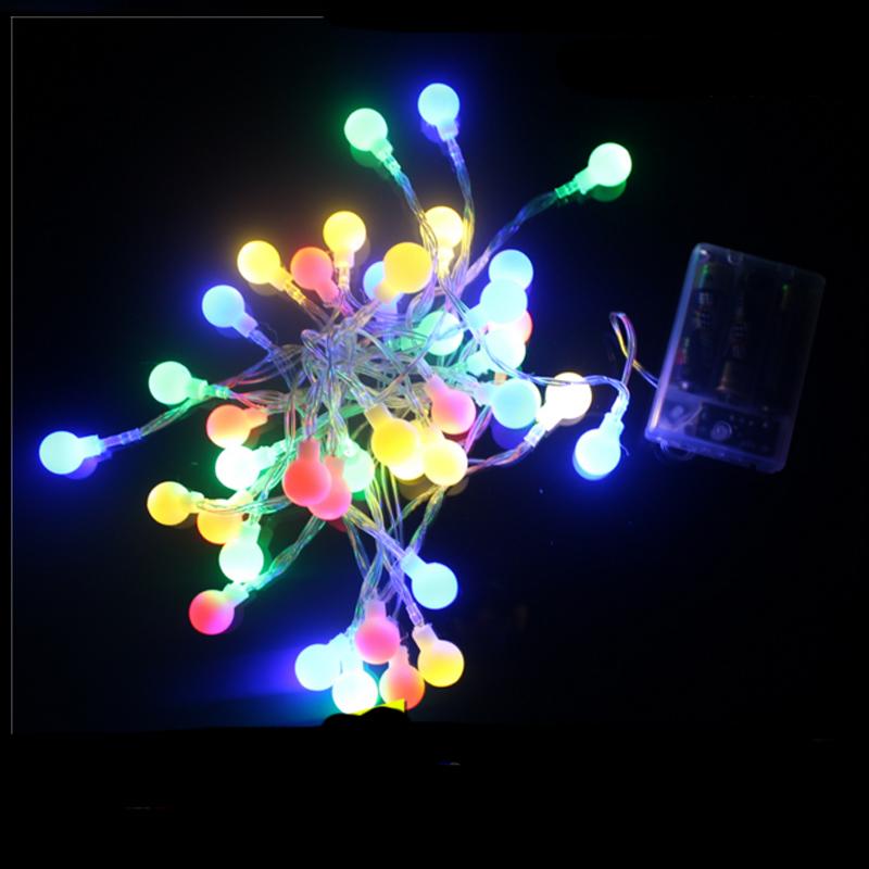 4m 4.5V 40LED Ball LED String Fairy Lights Outdoor Globe Christmas/Wedding Decoration guirlande lumineuse led(China (Mainland))
