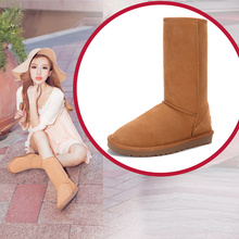 Ivg cowhide waterproof casual snow boots 5815 gaotong boots thermal women's shoes cow muscle outsole(China (Mainland))