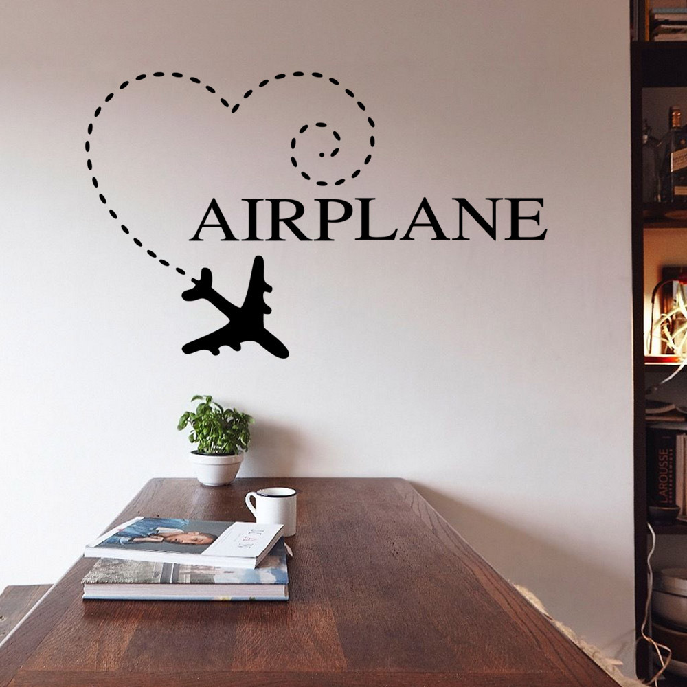 wall decal family art bedroom decor aliexpresscom buy diy wall sticker airplane quote family wedding decoration bedroom vinyl wall home room decor diy art decals wallpaper 58x56cm from