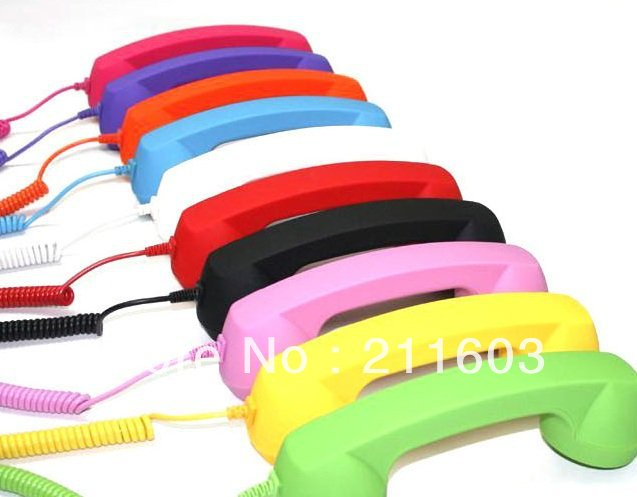 High quality Mic Retro POP Phone Handset receiver for iPhone4s/3gs;factory outlets(China (Mainland))