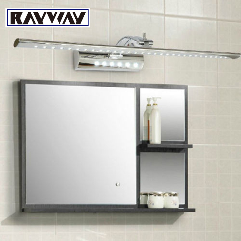 Wholesale 55cm 7w bathroom led mirror light ac85 265v smd5050 stainless steel dressing table for Stainless steel bathroom lights