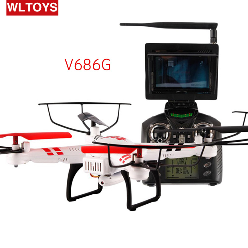 WLtoys V686G 4CH 5.8G FPV Real Time Transmission 2.4G RC Quadcopter drone with 2.0MP Camera Headless Mode Auto Return Function(China (Mainland))