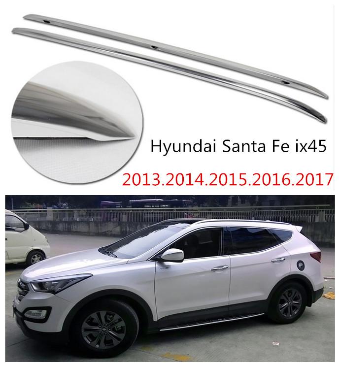 Auto Roof Racks Luggage Rack For Hyundai Santa Fe ix45 2013.2014.2015.2016.2017 High Quality Aluminium Car Accessories(China (Mainland))