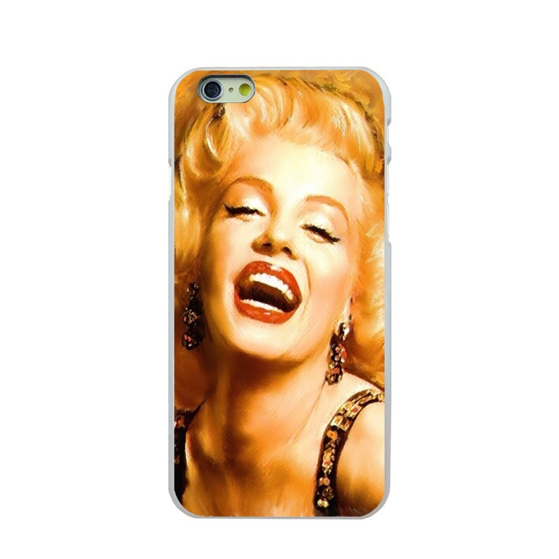 For Apple iphone 6 6s cases For iPhone 6G cover of Marilyn Monroe white PC hard cover Case For iPhone 6 6s