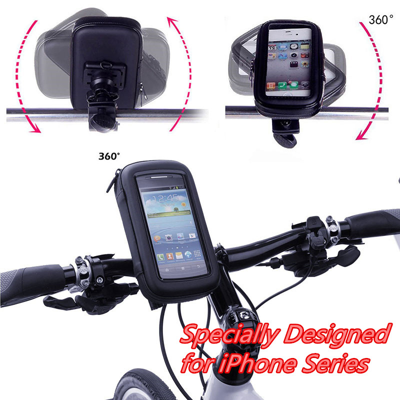 Bike Holder Motorcycle Phone Holder Waterproof Bag Case Special For iPhone 6s/6s Plus/6/6 Plus/5s/5/SE/4s/4 Phone Support Stand(China (Mainland))