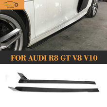 Buy ML Style R8 Carbon Fiber Side Bumper Skirt Extension Audi R8 2008 2015 Auto Racing Car Styling Side Bumper Skirts Body kit for $911.51 in AliExpress store