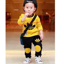 2015 Hot explosion models kids clothing family clothing boys/girls clothing sets kids coat + pants Sport sets kids clothes 1-5 Y(China (Mainland))