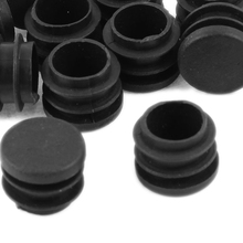 Shopping Time Plastic Round Blanking End Ribbed Caps Tube Inserts 19mm Dia 12 Pcs