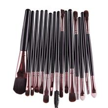 Paradise 2016 fashion design Very Soft 15 pcs Eye Shadow Foundation Eyebrow Lip Brush Makeup Brushes Tool  Free Shipping Apr26