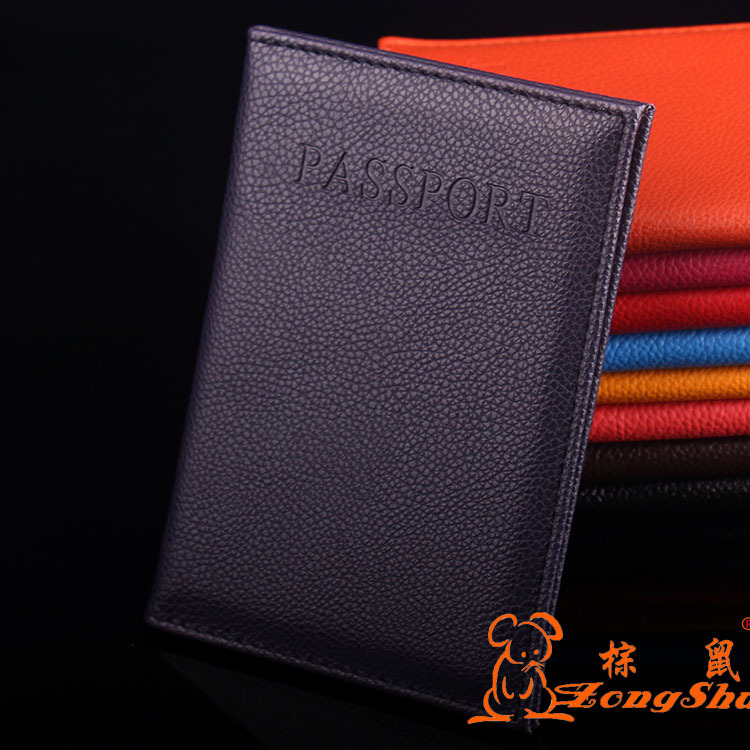 ZS Leather Passport Holder Couple Models Travel Passport Cover Unisex Card Case Man Card Holder