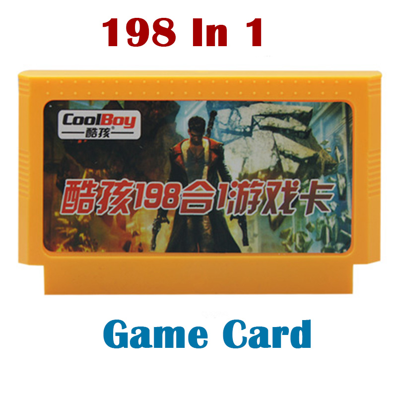 198 in 1 Game Cards 60 pin 8 Bit FC/NES game cartridge games player For tv video game console(China (Mainland))