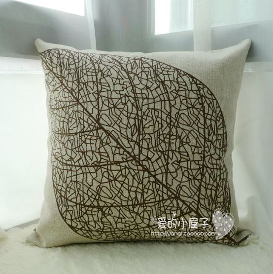 18quot exclusive cotton linen ikea style leaf pattern  : 18 exclusive cotton linen ikea style leaf pattern decorative pillow cover sofa cushion cover simple design from www.aliexpress.com size 554 x 555 jpeg 65kB