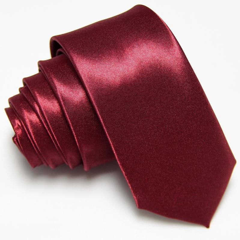 Men's Slim Ties Skinny neck Tie necktie Solid color Polyester cheap 36colors fashion Accessories 5CM WIDTH - No.01 Store store