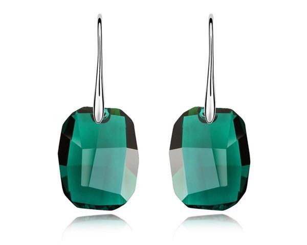 Emerald Green Crystal Dangle Earrings With Swarovski Elements Hook Earrings Women Lover Friends Gifts Wedding Jewelry EEH0021