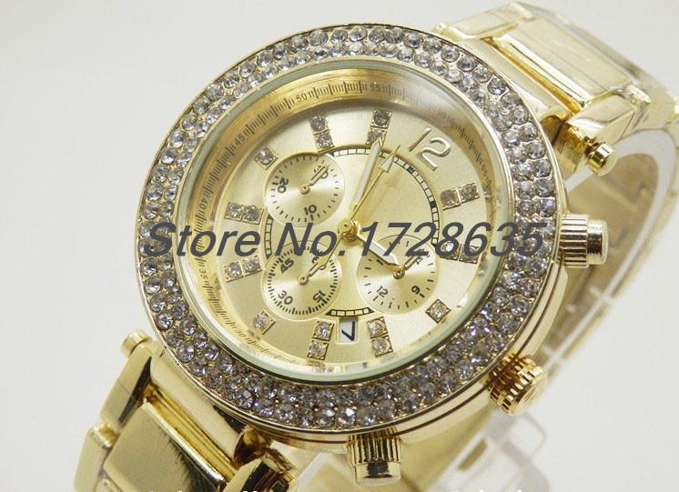 2015 New Michaeles Watches Fashion Full Steel band Luxury woman dress watch Quartz ladies Michaeles Wrist watches Unisex Watches(China (Mainland))