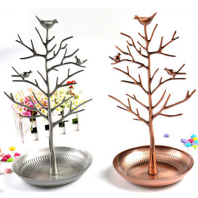 Charm Bird Tree Hook Earrings Ring Stand Holder Show Rack Necklace Display(China (Mainland))