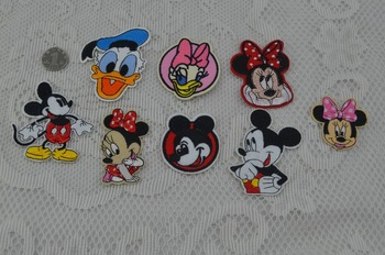 free shipping mixed 8 pcs mouse cartoon Iron On cloth Patches Guaranteed Embroidered Robe Iron On Patch rock retro applique