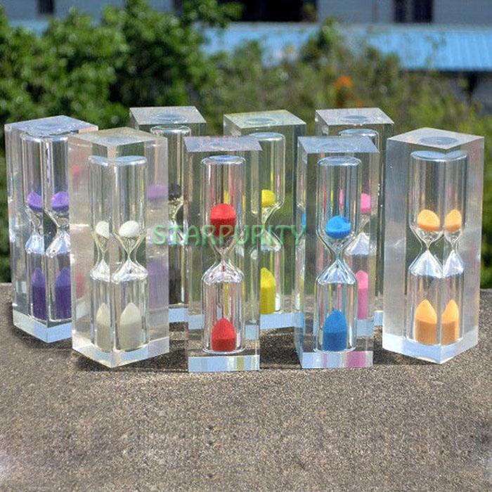 3Min Crystal Mini 8cm Sandglass Hourglass Timer Sand Clock Office Home Wedding Decor Kids Birthday Gift(China (Mainland))