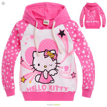 2015 new autumn Hello Kitty  girls clothes long sleeve children hoodies kids clothing sweatshirts 2-10age girl(China (Mainland))