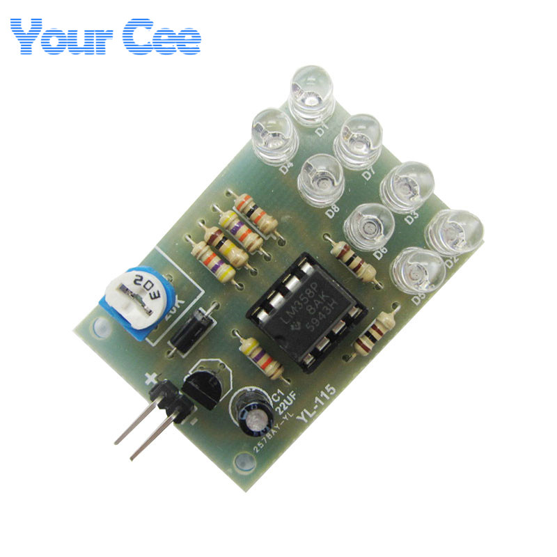 2 pcs LM358 Breathe Light Lamp Flicker 8pcs 5MM Blue LED DIY Electronic Kit Suite Electronica Components Supplies(China (Mainland))