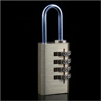 4 Digit Metal Combination Lock Password Number Security Plus Padlock #3293