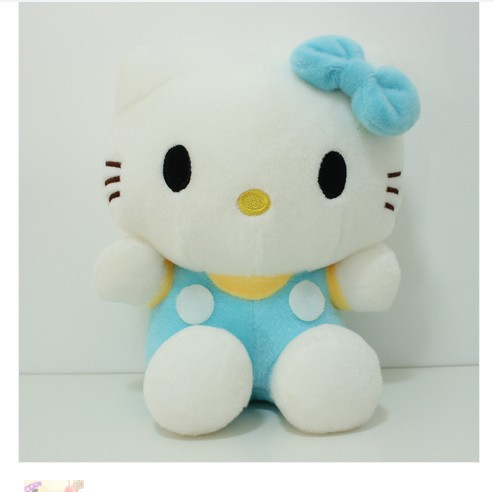 NEW STuffed animal blue hello kitty about 25cm plush toy 10 inch soft Toy birthday gift wh090(China (Mainland))