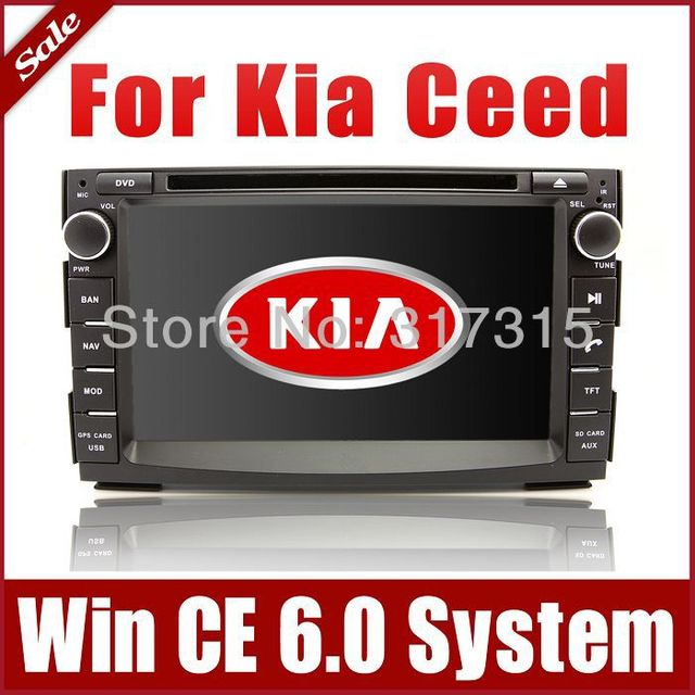 2Din Autoradio Car DVD Player GPS Navigation for Kia Ceed 2010-2012 with Navi Bluetooth Radio TV USB AUX Map Audio Video Stereo