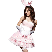 Buy 2017 New Sexy Lingerie Uniform Temptation Role Playing Bunny Rabbit Set Dance Women Dress Erotic Lingerie Christmas Costumes