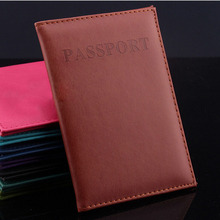 Hot Women & Men Fashion Faux Leather Travel Passport Holder Cover ID Card Bag Passport Wallet Protective Sleeve(China (Mainland))