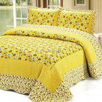2015  good quality 119-2 colorful prewash bedcover bedding set