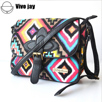 2015 designer women National messenger bags canvas print cross body shoulder bags ladies small tote handbags high quality