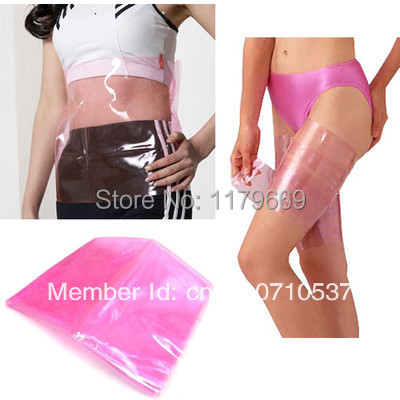 Russia Free Shipping New 1set 2pcsSauna Slimming Belt Burn Cellulite Fat Leg Thigh Wraps Weight Loss