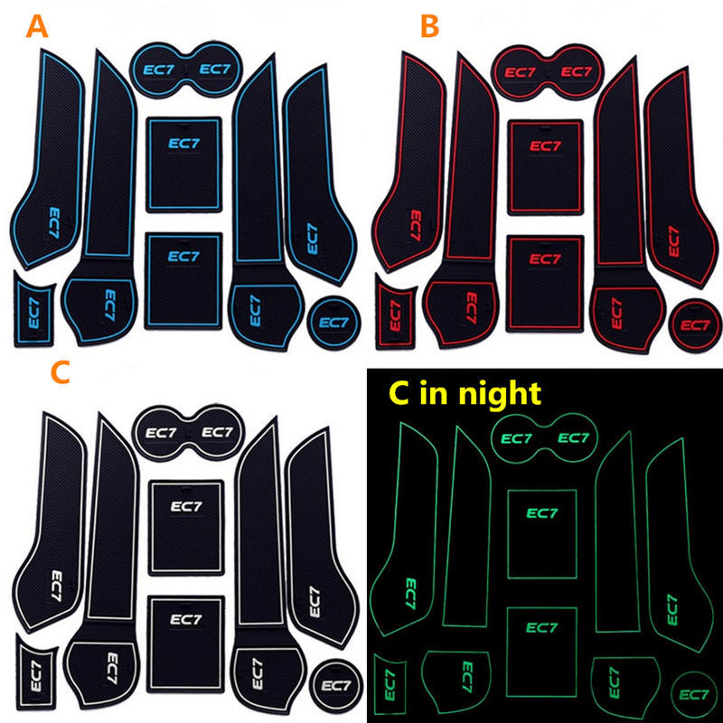 Car gate slot and cup holder pad cover for Geely Emgrand EC7 2014 style<br><br>Aliexpress