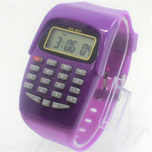 New Hot Casual Fashion Sport Watch For Men Women Kid Colorful Electronic Multifunction Calculator Watch Jelly