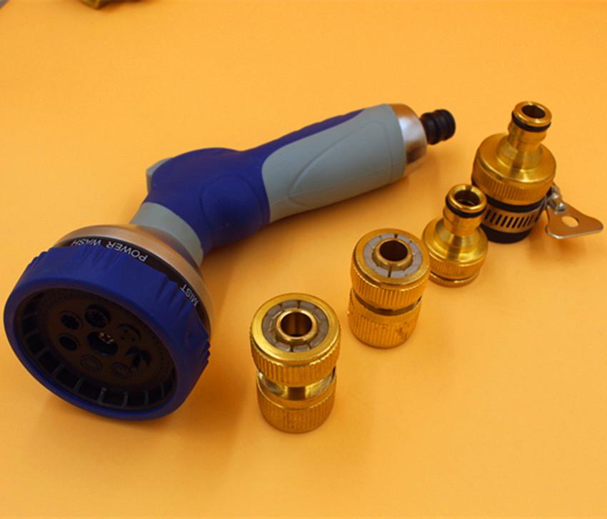 7 Spray Patterns Plastic Garden Water Gun For Garden Lawn Irrigation Supplies Watering Flower Car JWG1008(China (Mainland))