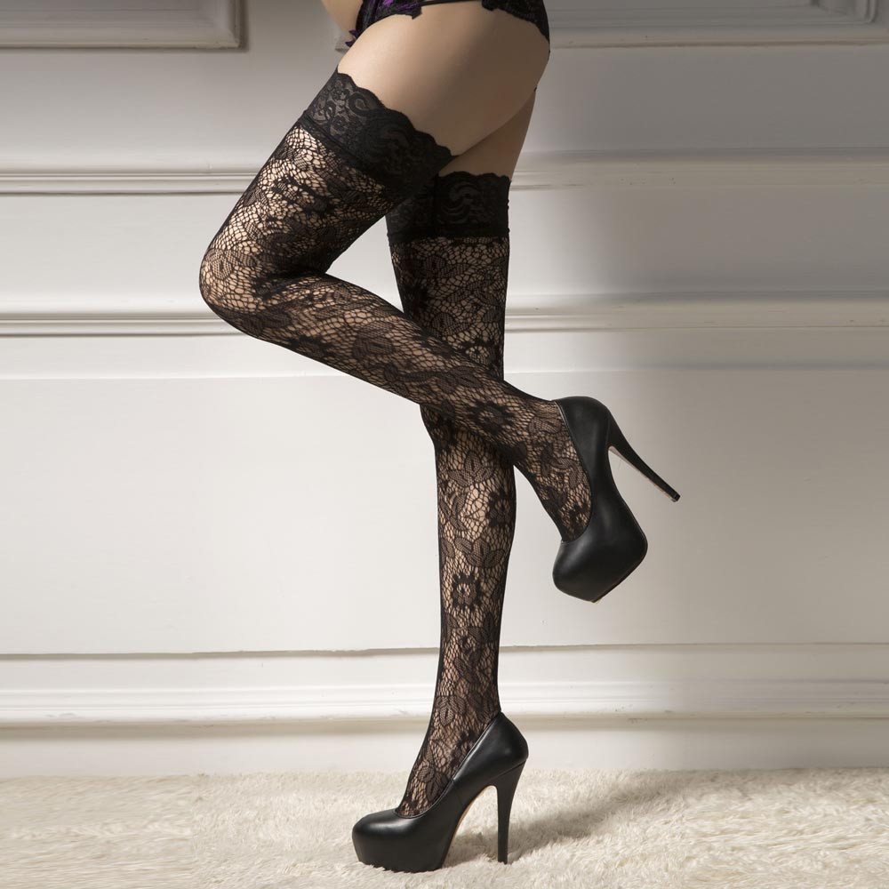 Sexy Stockings Women Net Thigh High Stockings Lace up Thigh Highs Hoiery fishnet stocking high quality medias lingerie #5(China (Mainland))