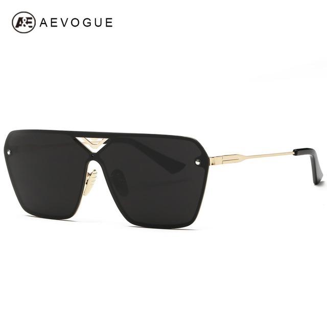 Очки aEVOGUE мужская сиамские очковых линз полуободковые сплава рама летний стиль солнцезащитные очки óculos De Sol UV400 AE0324
