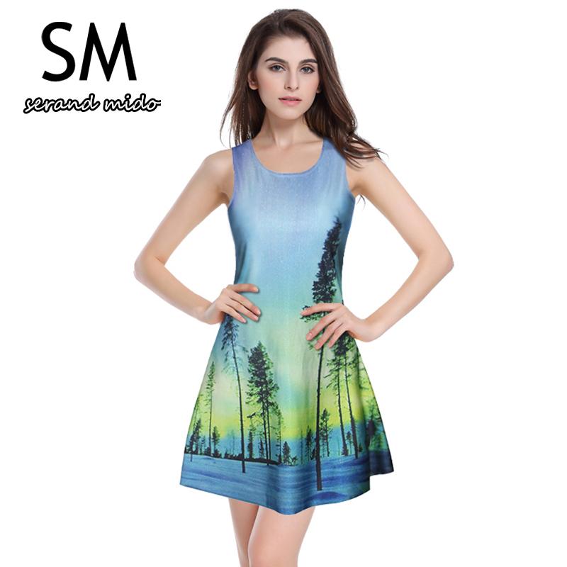 Women's Sleeveless Slim Sports Sexy Dress Ladies Tennis Dresses Digital Print Knitteed Sportwear Women's Workout Clothing Dress(China (Mainland))