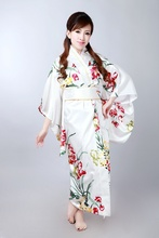 Kimono japonais Vintage Original Tradition robe Yukata soie avec Obi H0052(China (Mainland))