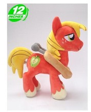 lovely plush red horse toy cute stuffed horse doll Big Macintosh toy doll gift toy about 32cm