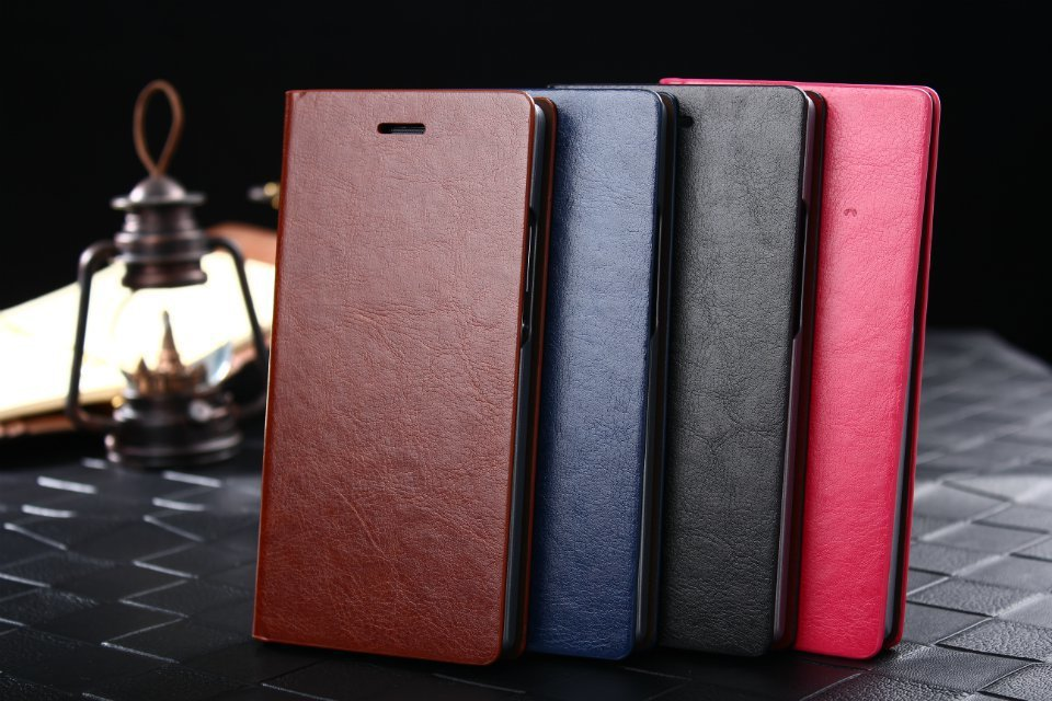 Luxury Wallet Style PU Leather Case Huawei Ascend P7 Phone Covers Stand +3 Card Holders+ 1 Bill Side - Kingdom store