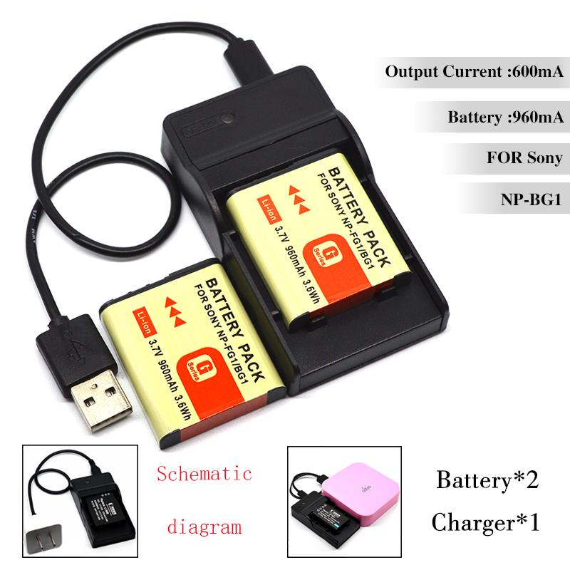 Conenset 2PCSx960mah Battery + 1 USB Charger for Sony DSC-W100 DSC-W110 DSC-W115 DSC-W120 DSC-W125 DSC-W130 DSC-W150 Camera<br><br>Aliexpress