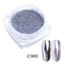 0.5g Espelho Prego Pó Glitter Flocos de Cor Metálica Da Arte Do Prego Gel UV Polimento de Cromo Pigmento Pó Decorações Manicure TRC /ASX(China)