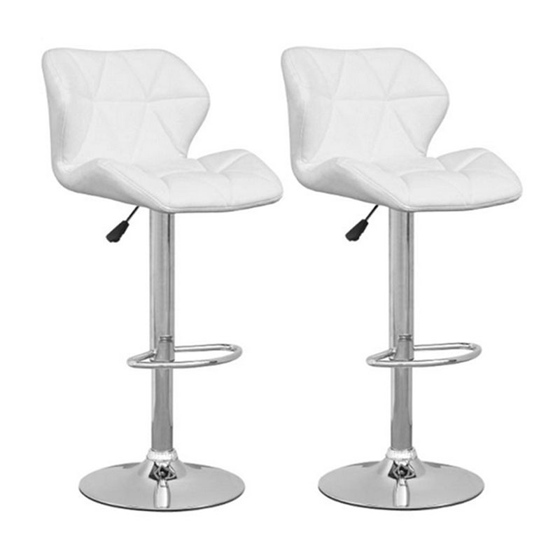modern style set of 2PCS bar stools Commercial Furniture Bar Chair Bar Furniture Height Adjustable kitchen white(China (Mainland))