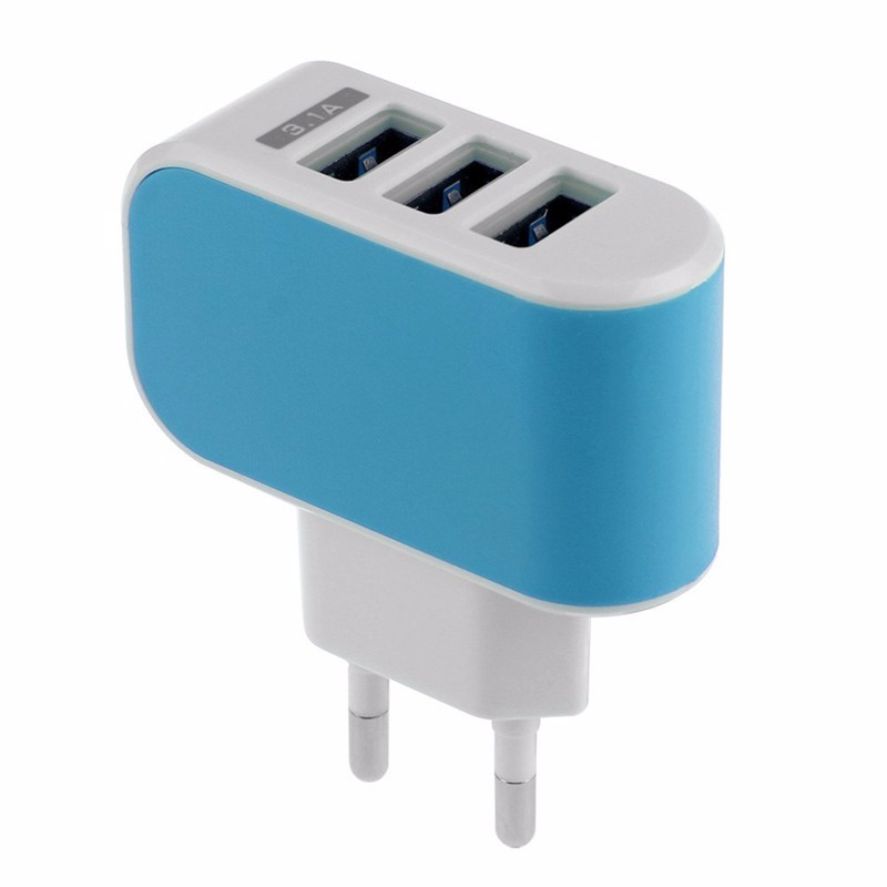 5V 3.1A Fast Charger EU Plug For Smart Phones for iPhone 5S SE 6 plus Samsung Galaxy  3-Port Triple USB Wall Adapter Charger