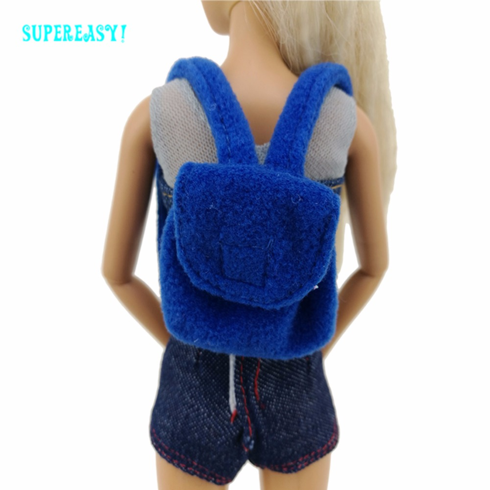 Randomly Choose 5 Pcs HandBag Combine Model Colourful Bag Style Modren Backpack Messenger Bag For Barbie Doll Greatest Equipment Reward