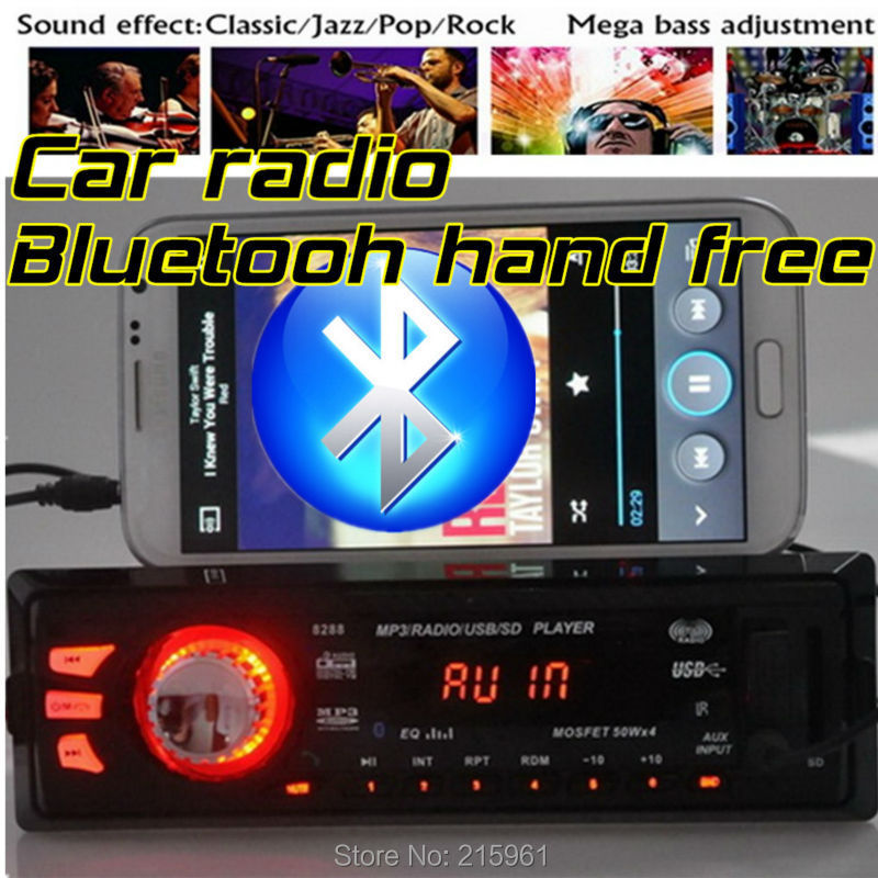 New 12V Bluetooth Car radio Stereo FM Radios MP3 Audio Player 5V Charger USB/SD/AUX in Car Electronics bluetooth In-Dash 1 DIN(China (Mainland))