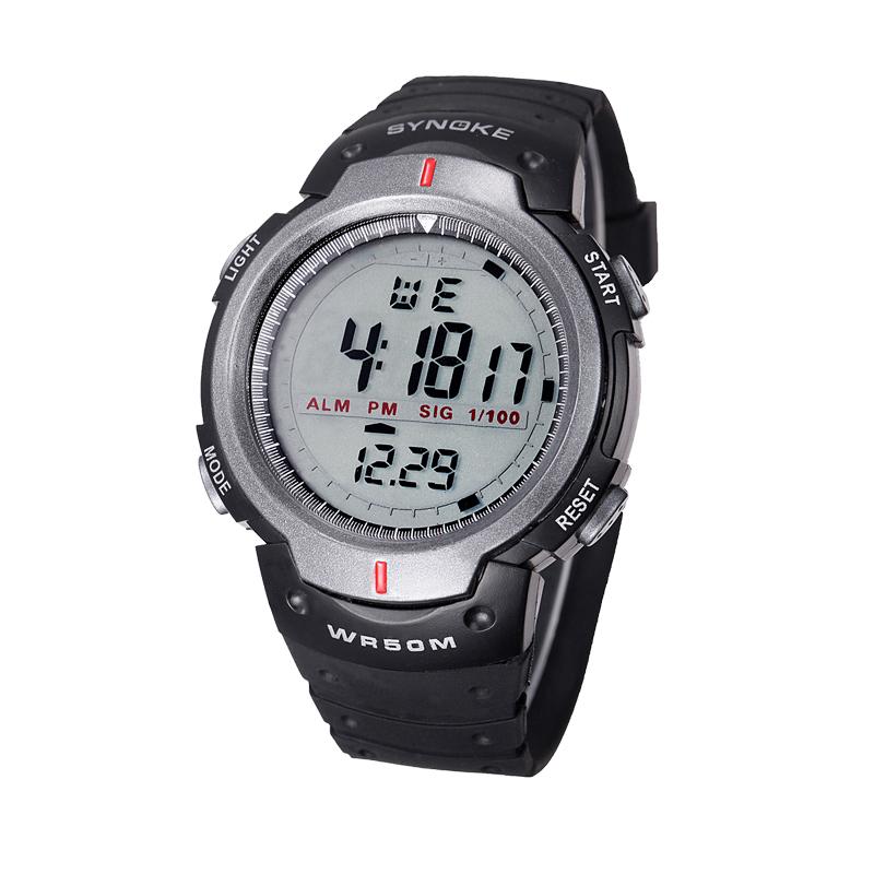 Outdoor Fashion Casual Sport Unisex Mens Womens Big Case Digital Wrist Watches Stopwatch Alarm Clock Day Calendar Rubber Strap<br><br>Aliexpress