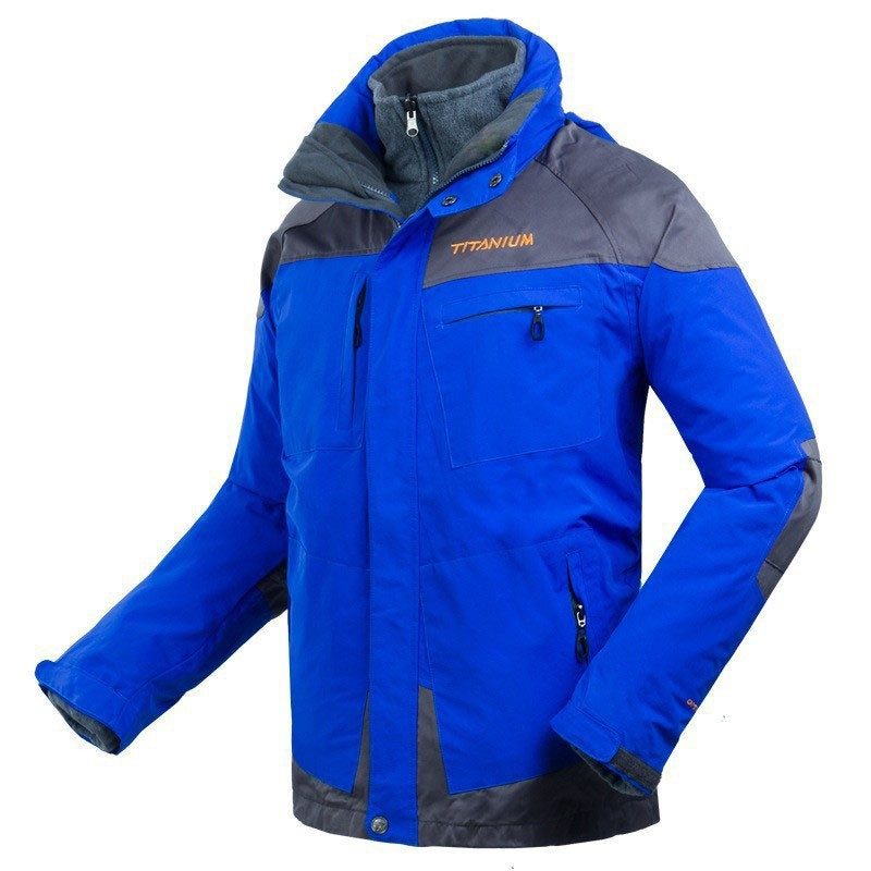 2015 Winter 2Pcs Suit Colombias Brand Mens Outdoor Waterproof Skiing Jackets For Hiking Mou