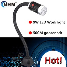 NHM 6W/9W LED machine work lamp /woodworking lathe tool lighting/industrial machine illumination/50CM gooseneck(China (Mainland))